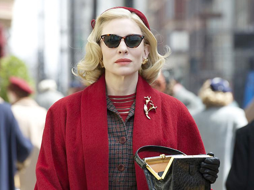 Stylish Carol, played by Cate Blanchett in Montgomery Vision Care eyewear