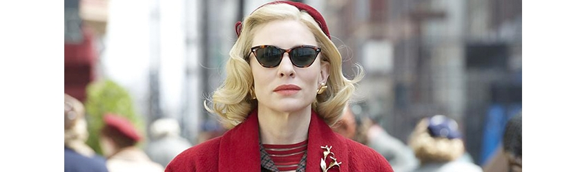 Cate Blanchett wears vintage eyewear from Montgomery Vision Care in the film Carol, filmed in Cincinnati