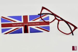 Photo of TD Tom Davies Red Eyewear with the Union Jack